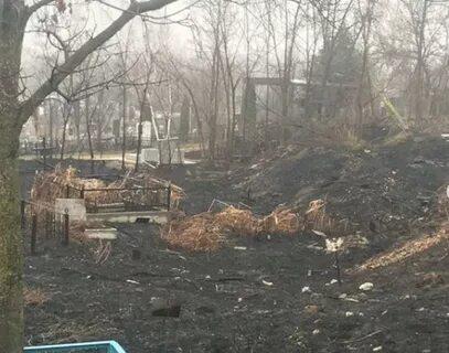 Нальчикское кладбище в Пятигорске пострадало от пожара