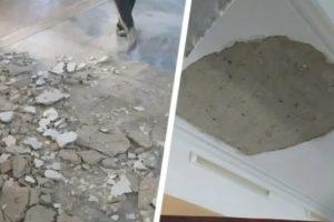 На ученицу одной из ставропольских школ обрушился потолок